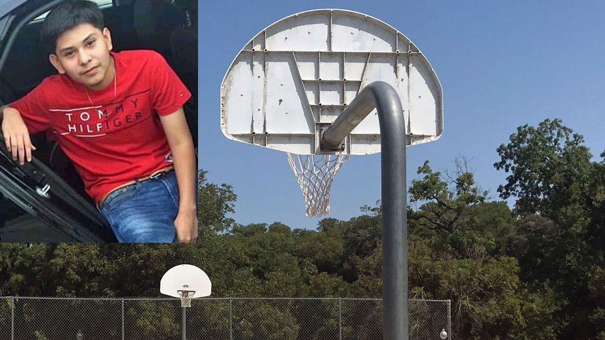 Fernando Martinez, 16, of Belton (inset) was shot  near a basketball court where he often played.
