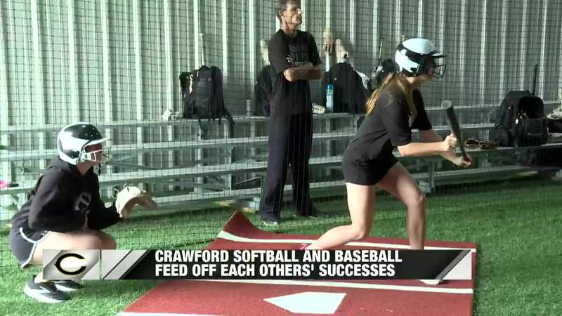 Crawford Softball practices bunting ahead of Regional Finals