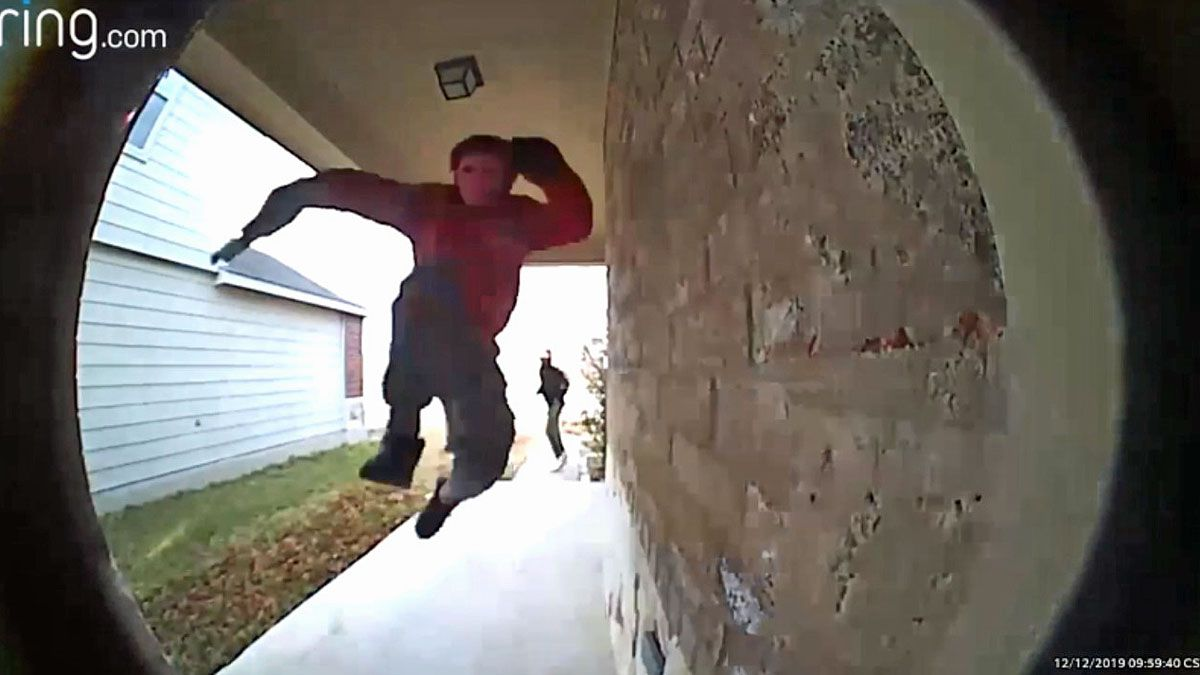 A Ring camera captured video of the two men breaking into the home. (Courtesy photo)