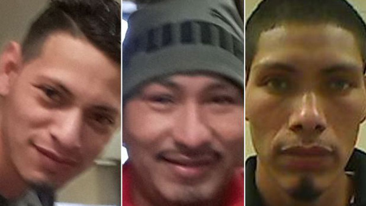 LEFT TO RIGHT: Elder Paz Perez, who remains a fugitive, Raul Paz Perez and Wilmer Paz Perez.