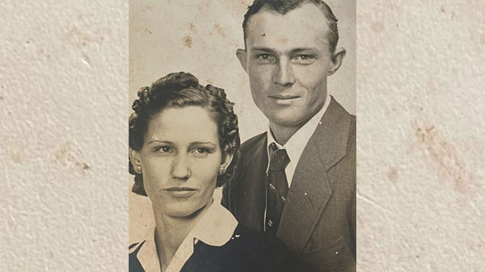 Christine and her husband Jack were married for 75 years.