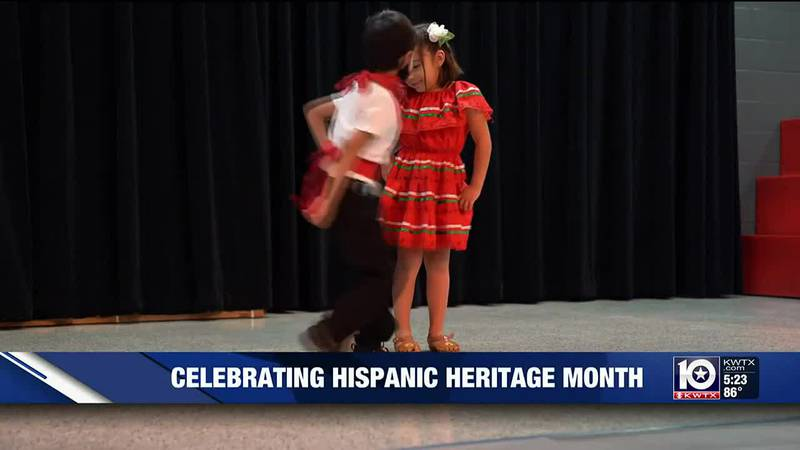 Hispanic Heritage Month celebration at Trimmier Elementary in Killeen, Texas.