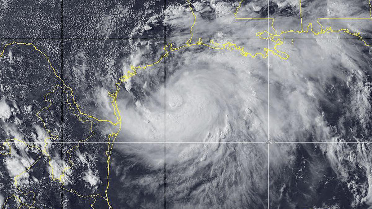 A hurricane warning was issued Friday afternoon from Baffin Bay north to Mesquite Bay as Tropical Storm Hanna picked up steam in the Gulf of Mexico. (NOAA)