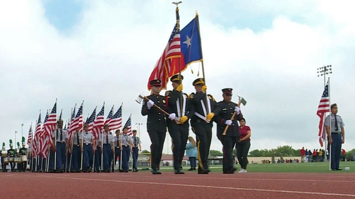 The Killeen ISD held its annual Freedom Walk Wednesday at Leo Buckley Stadium. (Photo by Chelsea Edwards)
