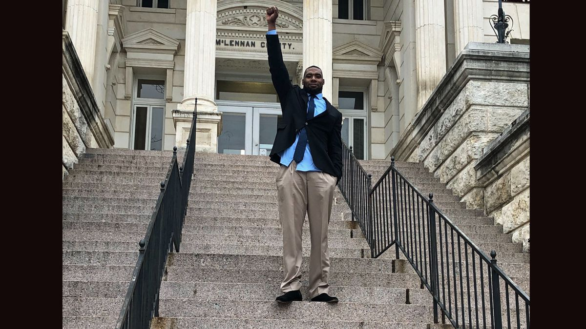 Shawn Oakman after the jury returned the verdict. (Photo by John Carroll)